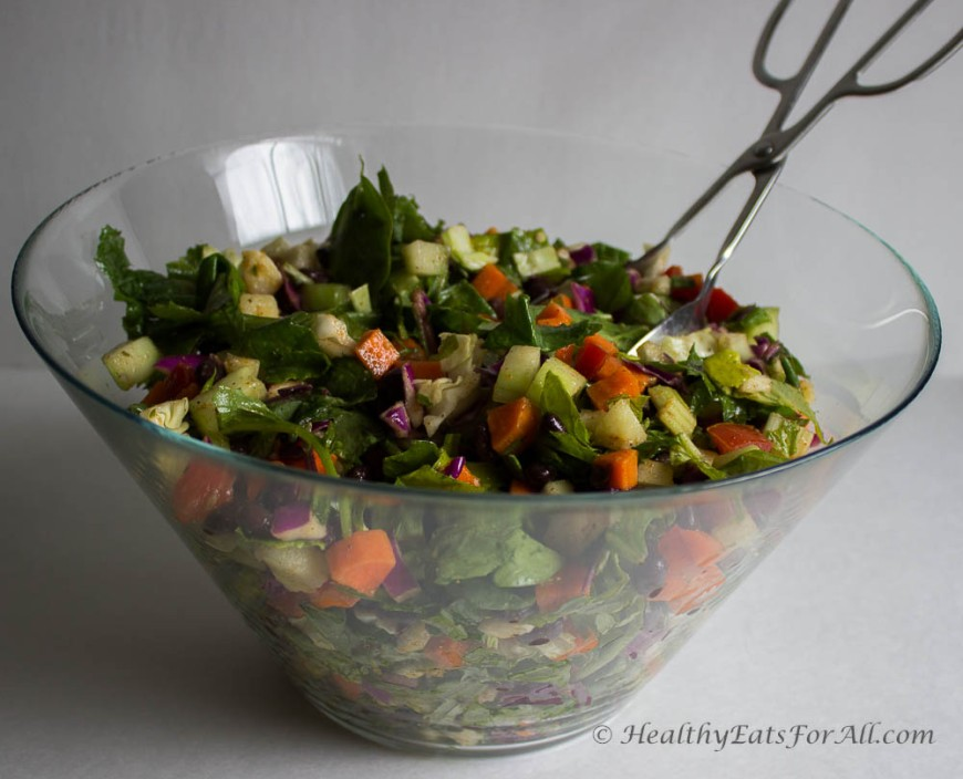 Black Bean Chaat Salad-6