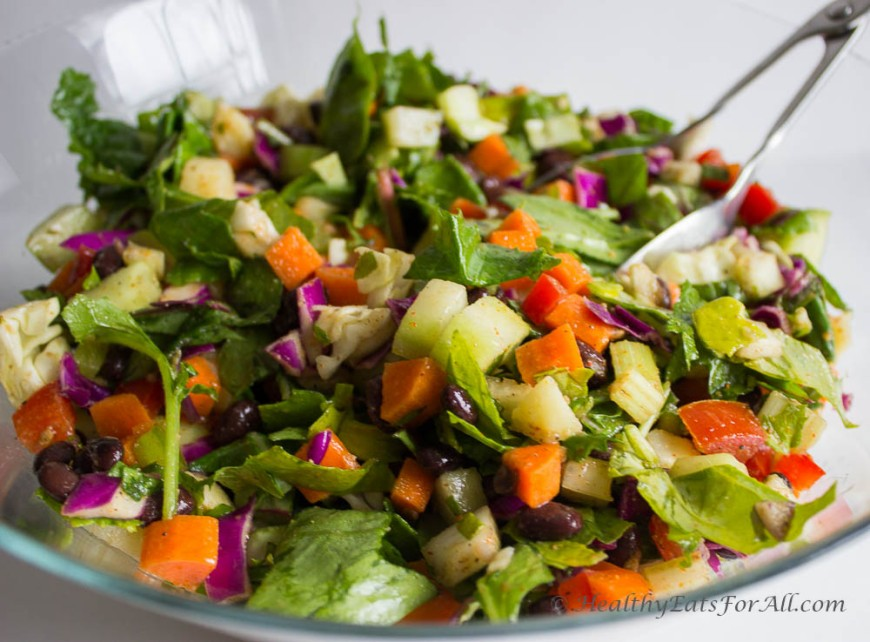 Black Bean Chaat Salad-7
