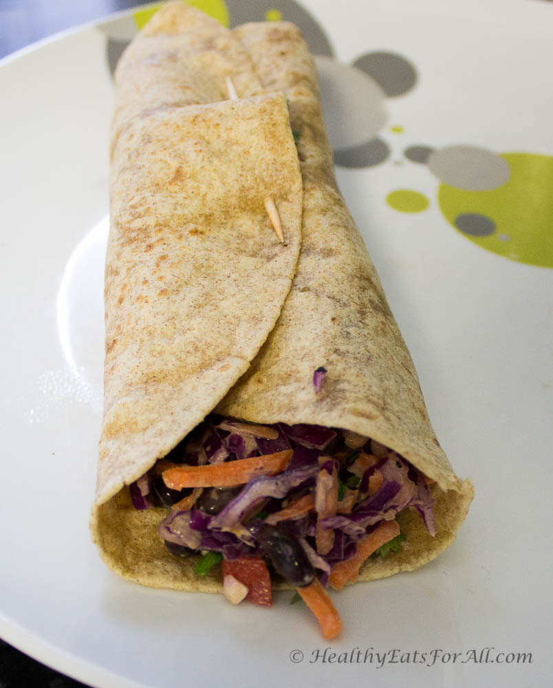 Veggie Wrap with Ranch Dressing-2