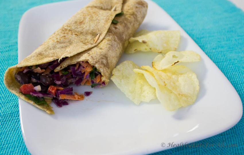 Veggie Wrap with Ranch Dressing-3