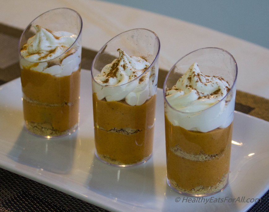 No bake pumpkin pie mousse cups-10
