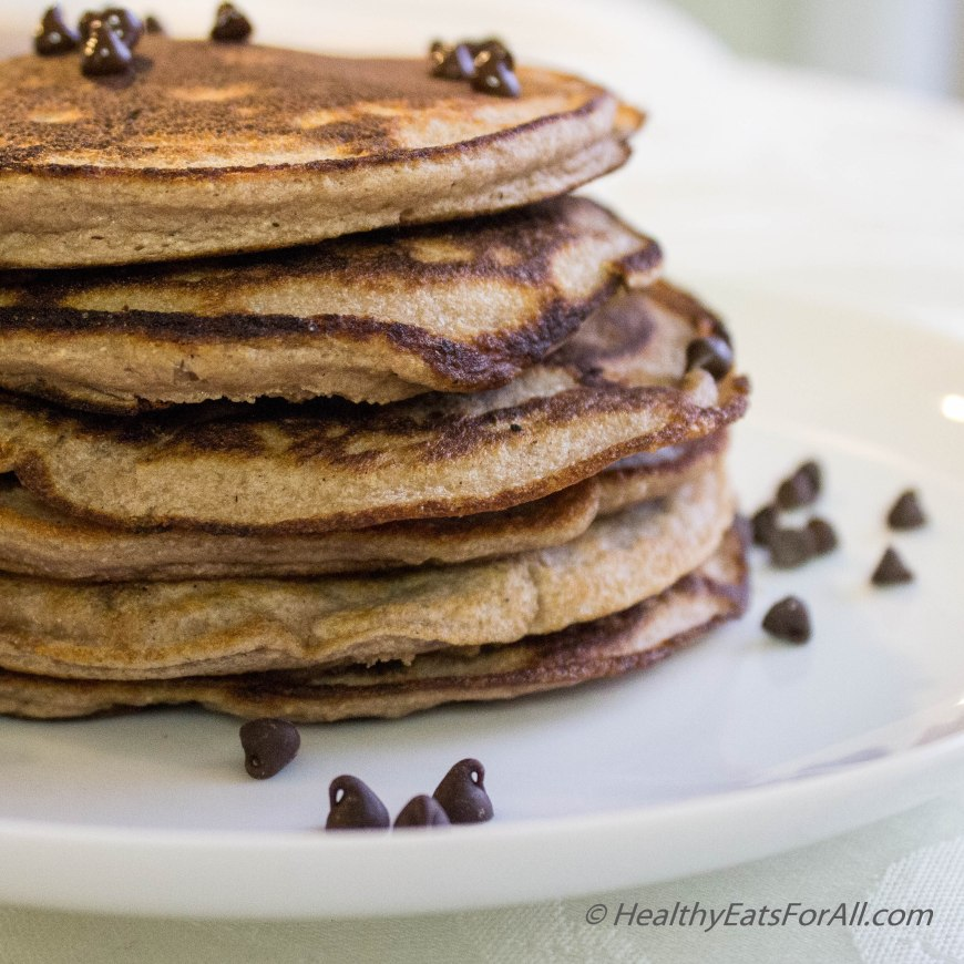 Chocolate Chip Protein Pancakes-14