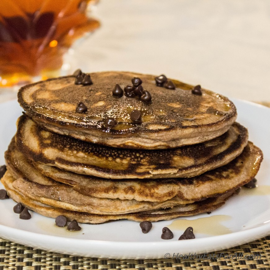 Chocolate Chip Protein Pancakes-19