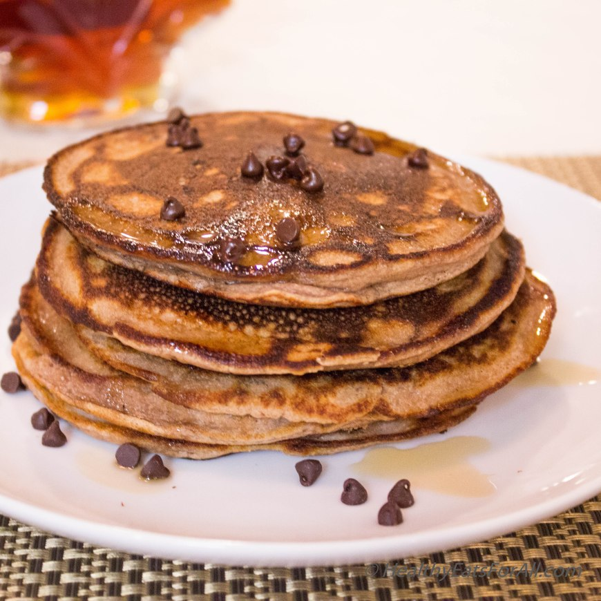 Chocolate Chip Protein Pancakes-20