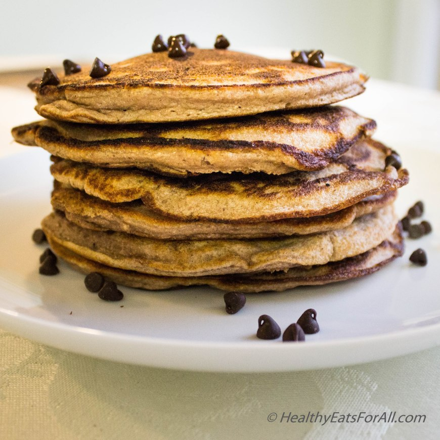 Chocolate Chip Protein Pancakes-21