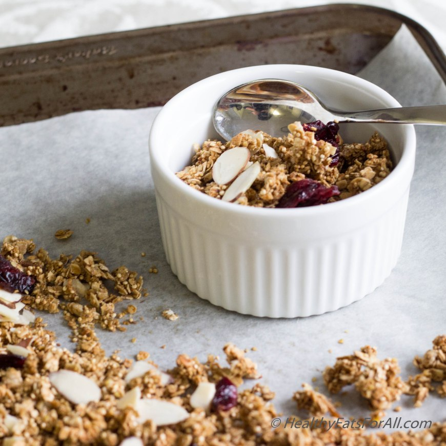 Almond Cranberry Granola-1