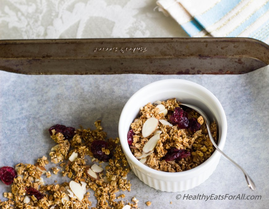 Almond Cranberry Granola-14