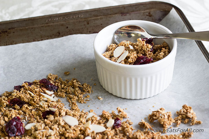 Almond Cranberry Granola-15a
