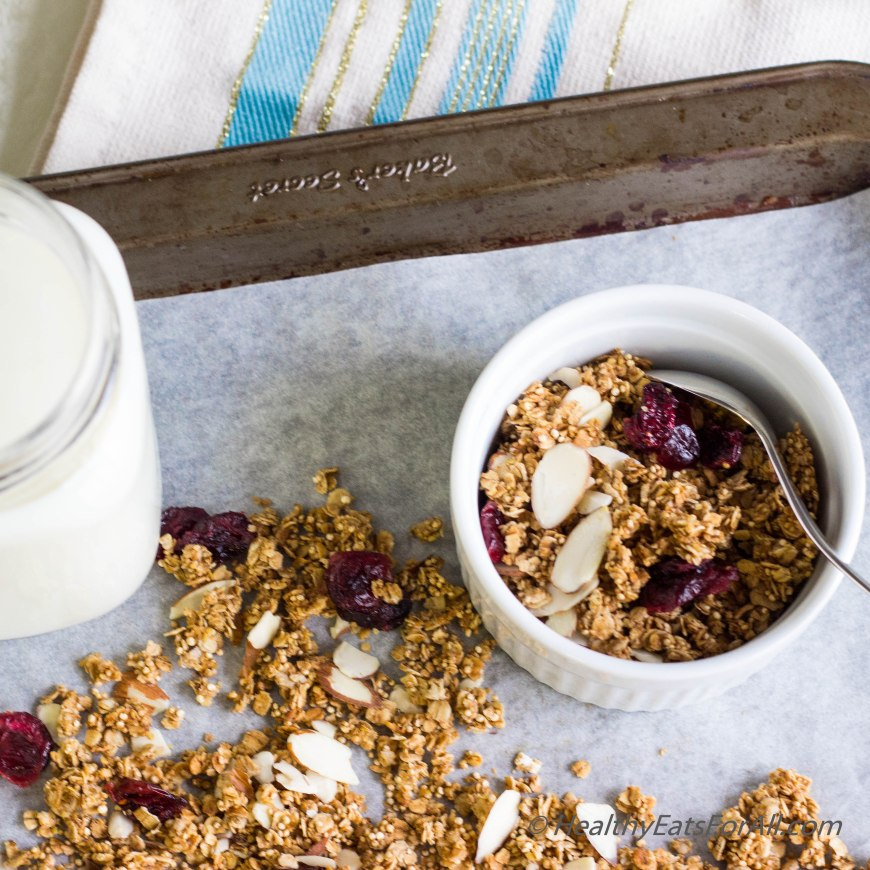 Almond Cranberry Granola-4