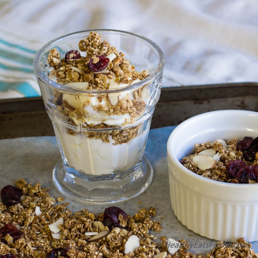 Almond Cranberry Granola-6