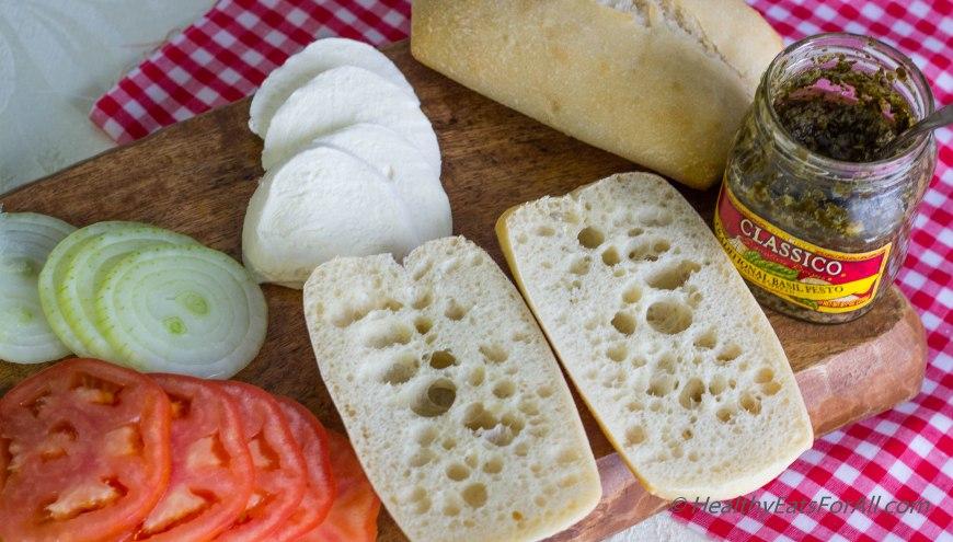 Mozzarella Pesto Panini Sandwich-1