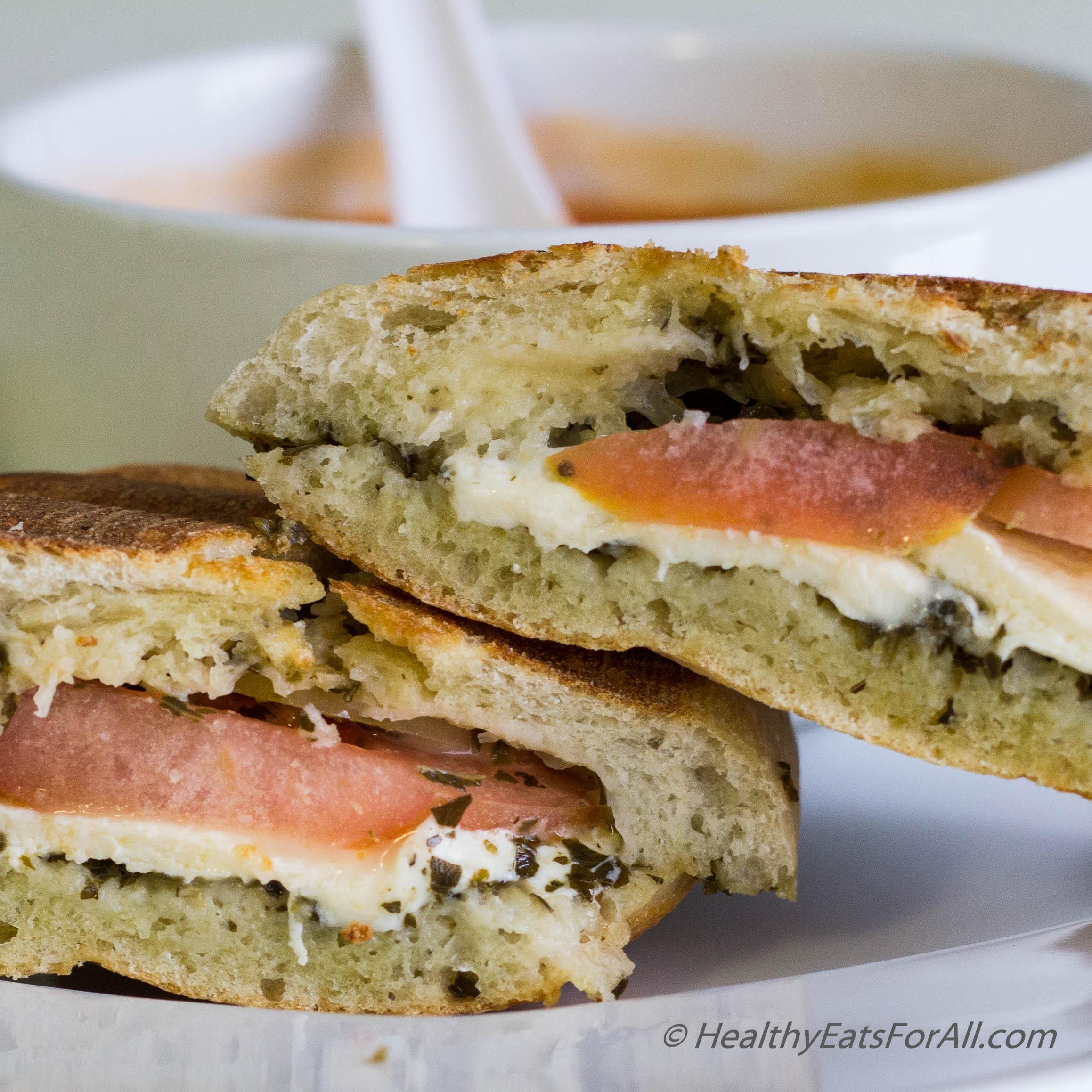 Mozzarella Pesto Panini Sandwich | Healthy Eats For All