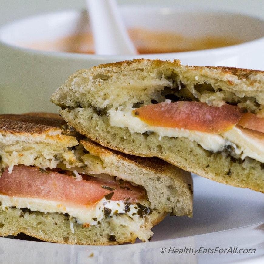 Mozzarella Pesto Panini Sandwich-10