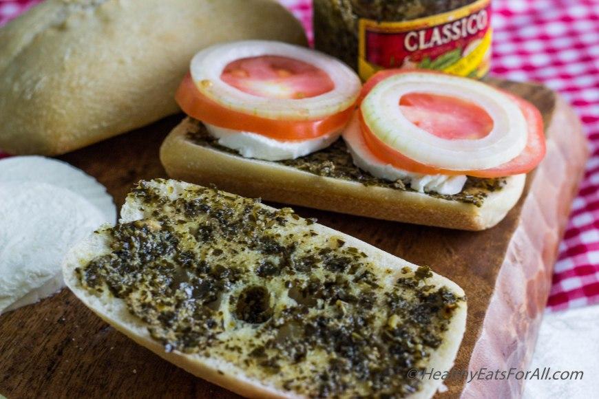 Mozzarella Pesto Panini Sandwich-2