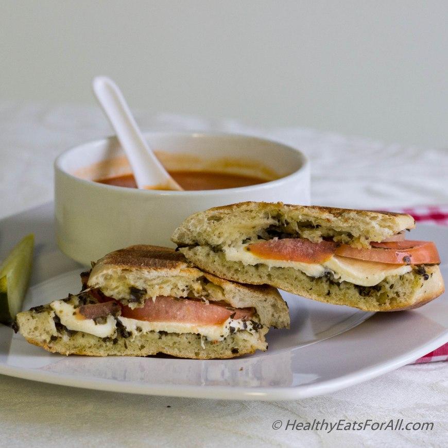 Mozzarella Pesto Panini Sandwich-6