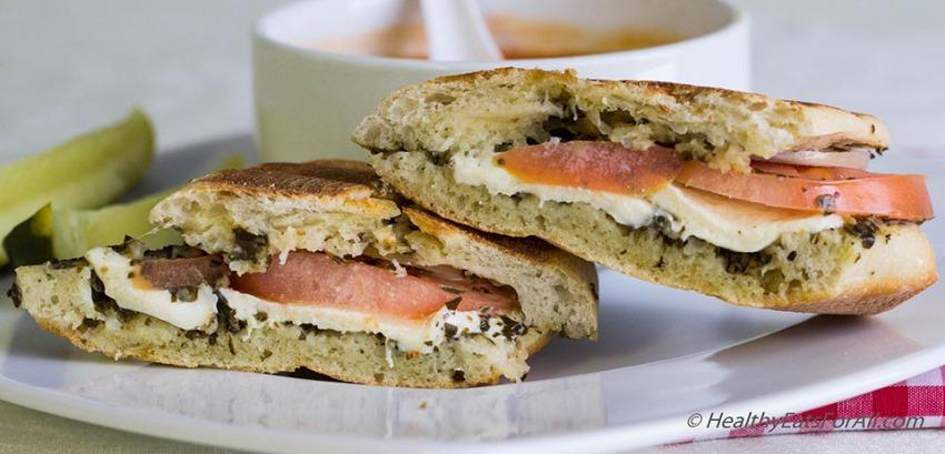Mozzarella Pesto Panini Sandwich-9a