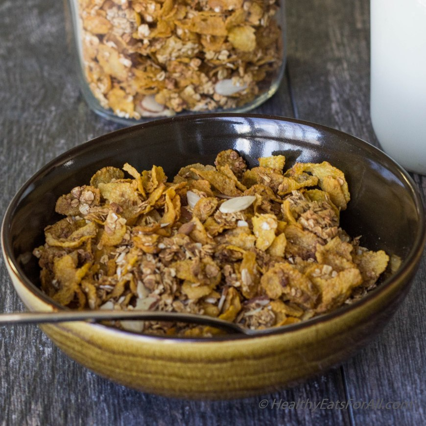 Homemade Honey Bunches of Oats cereal-13