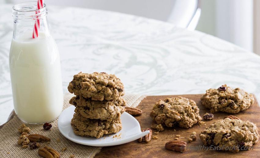 Oatmeal Pecan Raisin Cookies-16a