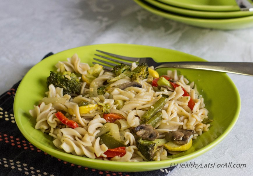 Pasta with Roasted Vegetables-2