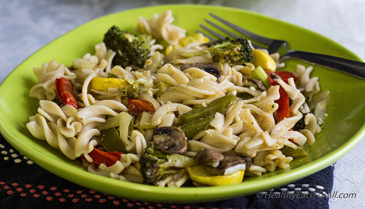 Pasta with Roasted Vegetables-4a