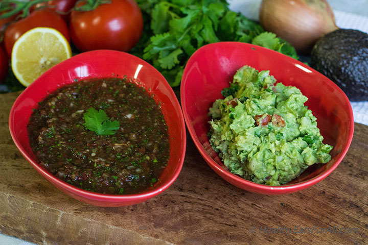 Restaurant Style Salsa and Guacamole-8a