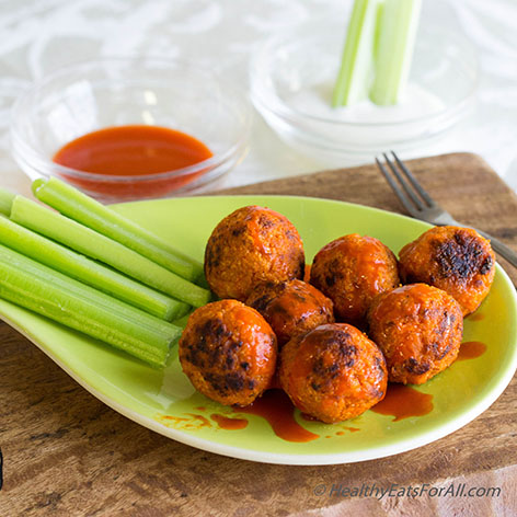 Quinoa and Cauliflower Buffalo Bites-7a