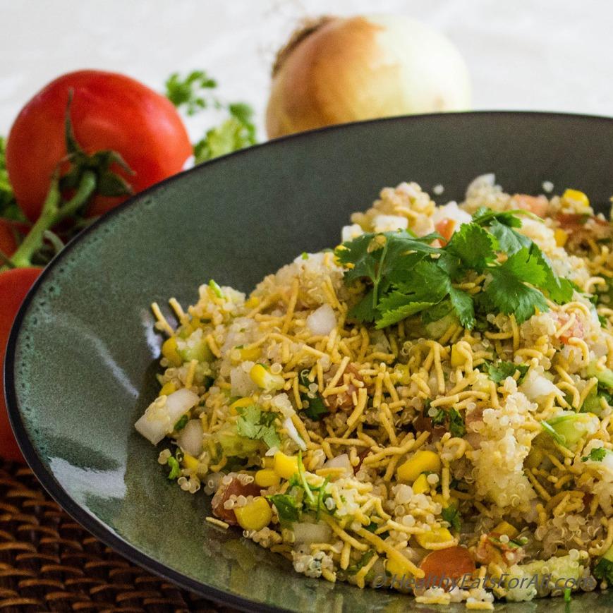 Quinoa Corn Vegan Bhel-7a