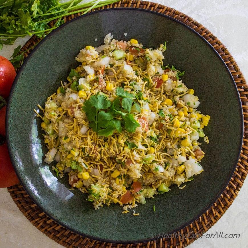 Quinoa Corn Vegan Bhel-8
