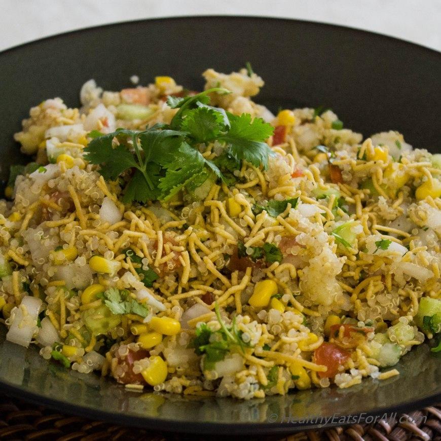 Quinoa Corn Vegan Bhel-9