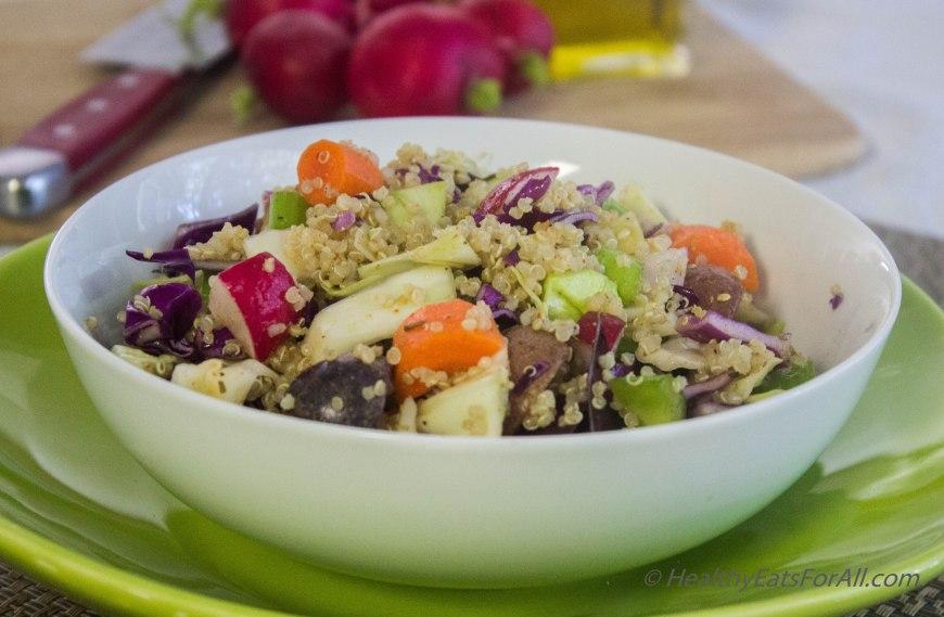Warm Potato, Quinoa and Cabbage Salad-3