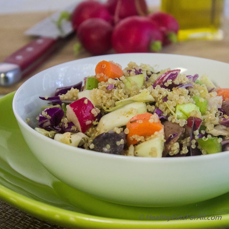 Warm Potato, Quinoa and Cabbage Salad | Healthy Eats For All