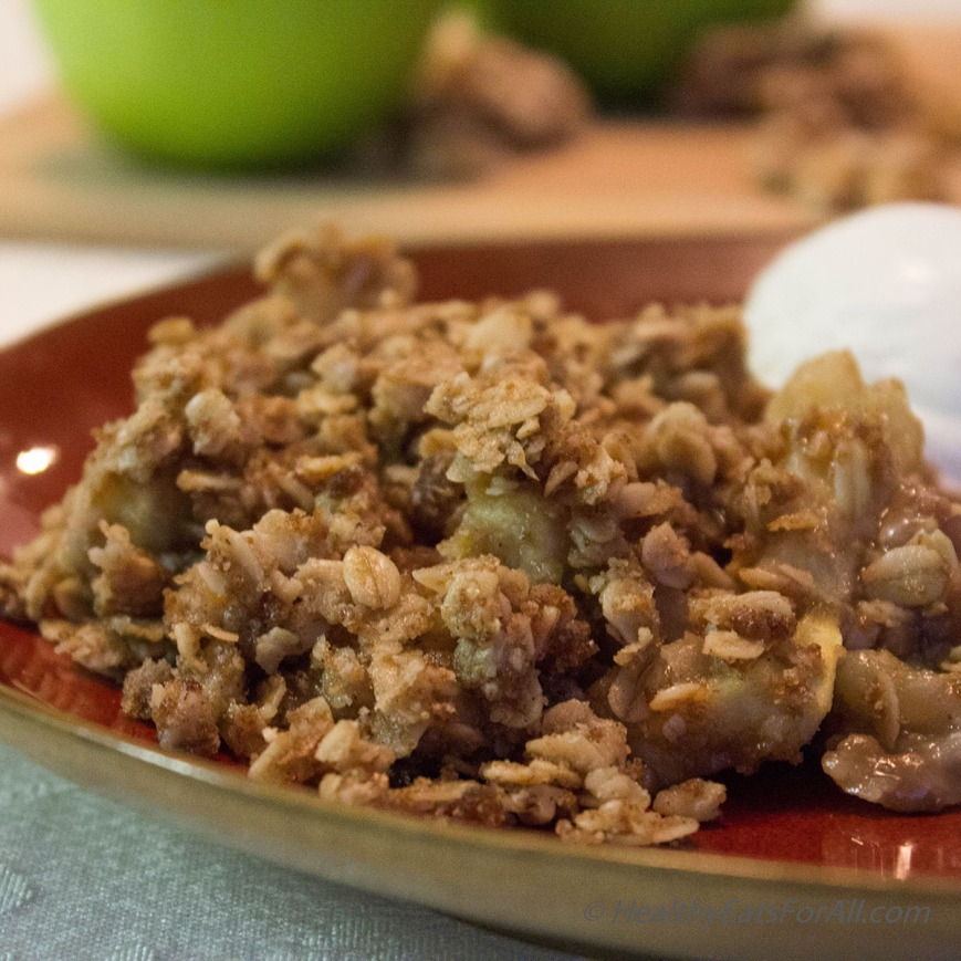 Apple Crisp with Oats-3a