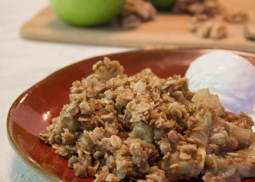 Apple Crisp with Oats-5