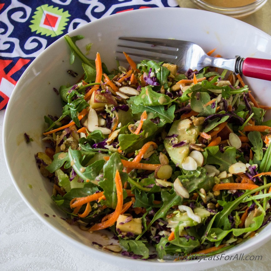 Super Green Salad with Spicy Peanut Dressing-2a