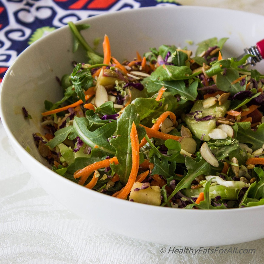 Super Green Salad with Spicy Peanut Dressing-5a