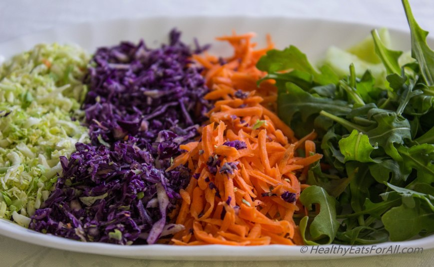 Super Green Salad with Spicy Peanut Dressing-8
